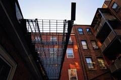 Бостон, улицы холма маяка стоковая фотография rf
