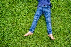 Босые ноги детей Стоковая Фотография RF