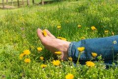 Босые ноги мужские Стоковая Фотография