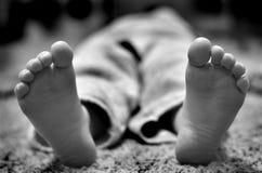 Босые ноги с пальцами ноги Стоковое Изображение RF