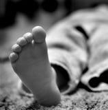 Босые ноги с пальцами ноги Стоковые Фотографии RF