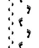 Босые ноги человека и младенца Стоковое Изображение RF