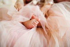 Босые ноги newborn Стоковое Изображение RF