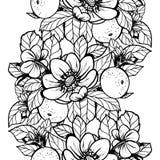 ботаническая картина безшовная Стоковое Фото