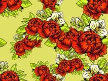 ботаническая картина безшовная Стоковая Фотография