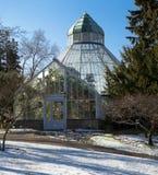 Ботаническая консерватория на парке Wright, Tacoma городск Зима стоковые фото