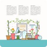 Ботаническая таблица и приборы Стоковое Изображение RF