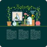 Ботаническая таблица и приборы Стоковое фото RF