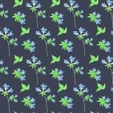 Ботаническая флористическая безшовная картина Печать цветка вектора иллюстрация штока