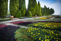 Ботанический сад на дворце Balchik в Болгарии Стоковые Изображения