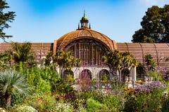 Ботаническое здание в парке бальбоа Стоковая Фотография