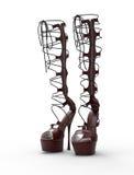 2 ботинка женщин изолированного на белизне Стоковое Фото