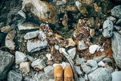 Ботинки ландшафта дороги Стоковые Фотографии RF
