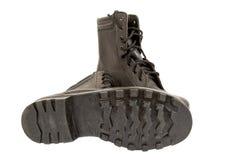 ботинки армии черные Стоковые Фотографии RF