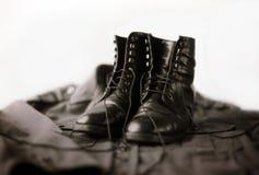 Ботинки армии Стоковая Фотография RF