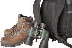 ботинки биноклей backpack стоковая фотография rf
