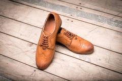 Ботинки Брайна людей Стоковые Фото