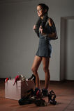 ботинки влюбленности Стоковое Фото