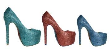 Ботинки высокой пятки стоковое изображение
