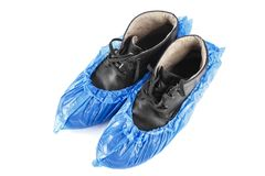 Ботинки в голубых ботинках Стоковое Фото