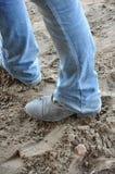 Ботинки в грязи Стоковая Фотография RF