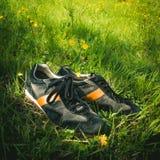 Ботинки в траве Стоковые Изображения RF