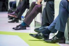 Ботинки дикторов на конференции Стоковое фото RF