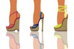 Ботинки лета иллюстрация вектора