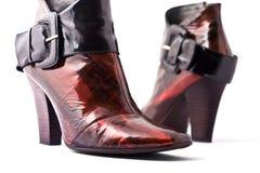 ботинки женщины способа Стоковые Изображения