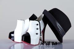 Ботинки женщины стиля гангстера Стоковое Фото