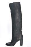 Ботинки женщин кожаные в черноте Стоковые Фото