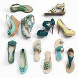 Ботинки женщин стоковая фотография rf