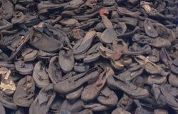 Ботинки жертв концентрационного лагеря стоковое изображение rf