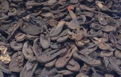 Ботинки жертв концентрационного лагеря стоковая фотография rf