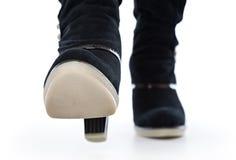 ботинки закрывают женские высокие ноги вверх стоковое фото
