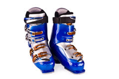 ботинки изолировали катание на лыжах горы Стоковое Изображение