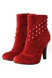 ботинки изолировали красную женщину стоковые фото