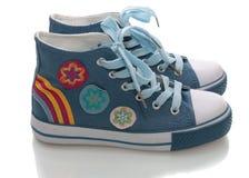 ботинки изолированные гимнастикой Стоковые Изображения