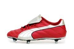 ботинки изолированные футболом Стоковое Изображение RF