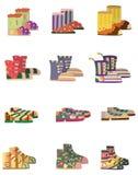 ботинки иконы шаржа иллюстрация вектора