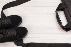 Ботинки и аксессуары женщин Стоковое Фото