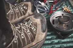 Ботинки и другая шестерня стоковые фото