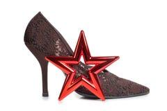 Ботинки и звезда Стоковое Изображение