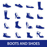 Ботинки и значки eps10 ботинок Стоковое фото RF