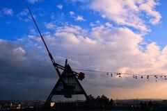 Ботинки и метроном смертной казни через повешение в Праге Стоковая Фотография