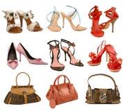 Ботинки и мешок способа собрания Стоковые Изображения