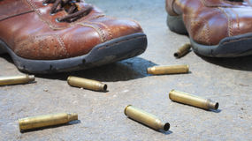 Ботинки и раковины Стоковое фото RF