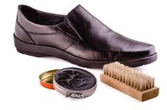 Ботинки и сливк ботинка Стоковые Изображения RF