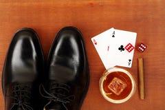 Ботинки и тузы Стоковые Изображения