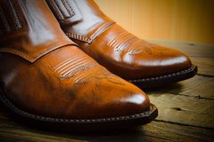 Ботинки ковбоя Стоковые Фото